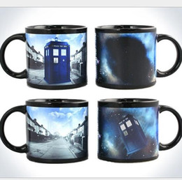 Wholesale Magical Mugs - Doctorwho Color Changing Mugs Sensitive Magical Coffee Cups Anime Theme Cup Heat Reaction Tumbler With Handle OOA1862