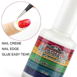 Wholesale Peel Off Base Coat - Wholesale-Perfect Summer white Peel Off extra nail polish nail art Tape Latex Finger skin protected Glue Easy Tear Base Coat care