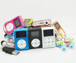 Argentina Al por mayor-2017 Nueva portátil MP3 pantalla LCD Metal Mini Clip reproductor de MP3 con ranura para tarjeta micro TF / SD con auriculares de alta calidad con usb supplier 1gb usb mp3 player Suministro