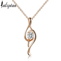 Wholesale Italina Necklace - Wholesale-Iutopian Italina Rigant New Arrival Musical Note Pendant Necklace Colar With Austrian Crystal Stellux Cubic Zirconia #RG76444