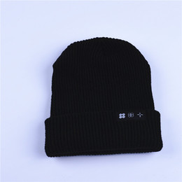 Wholesale Funny Fit - Winter Hats For Men Skullies Beanies The Wings Tour Patch Logo Fashion Funny Skull Stretch Cap Cuff Beanie Hat