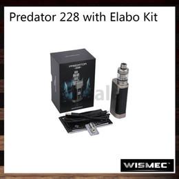 Wismec Predator 228 con Elabo Kit 228W Predator 228 TC Mod 4.9ml Elabo Tank Retráctil Top Sistema de llenado Childproof 100% Original desde fabricantes