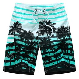 Wholesale Orange Coconut - 2017 new summer hot men beach shorts Swimming Bikini quick dry coconut tree printed elastic waist 4 colors Swimwear Sexy Mens Swim M-6XL