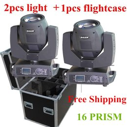 Wholesale Pro Stage Lighting - free shipping Flightcase 2in1 packing 230w Sharpy 7R Moving Head Beam Light High Power Pro Stage Lighting for Stage Event DJ Effect