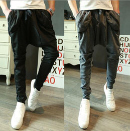 Wholesale Mens Dance Harem Sweatpants - New 2017 Mens Joggers Fashion Harem Pants Trousers Hip Hop Slim Fit Sweatpants Men for Jogging Dance 8 Colors sport pants M~XXL