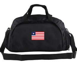 Wholesale Luggage Bands - Liberia duffel bag Solid team tote Beefy band backpack Football luggage Sport shoulder duffle Outdoor sling pack