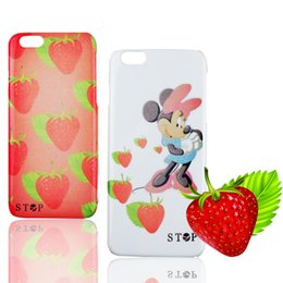 Wholesale Mouse For Apple - PC Case for Apple iphone 6 6s plus Strawberry   Mickey Mouse pattern back phone shell