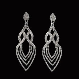 Wholesale swa elements - Fashion Wedding Accessories Jewelry Women Earrings Bijoux Genuine SWA Elements Austrian Crystal Long Earring #E053