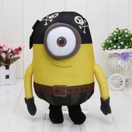 Wholesale Despicable 25cm - Wholesale-High quality 25cm Despicable me plush Pirate toys doll 3D eye bonecos