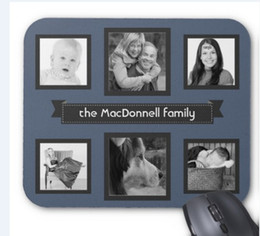 Wholesale Pad Photos - Rectangular non-slip natural rubber mouse mat make your own personalized Instagram photo collage mouse pad computer accessories office