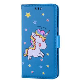 capa flip das estrelas Desconto Unicorn horse carteira carteira de couro para oneplus 5 redmi note4 note3 lg k10 sony xperia x xa xz dos desenhos animados animais star flip telefone stand capa 1 pcs