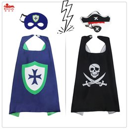 Wholesale Pirate Costume Kids - SPECIAL L27* Pirate&knight costume kids for party decoration pirate Christmas Halloween cosplay pirate costume cape mask