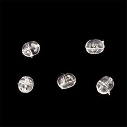 Wholesale Plastic Oval Beads - Wholesale- 100PC 4.7*6MM Fishing Plastic Transparent Clear Oval Beads Double Pearl Dril Wholesale