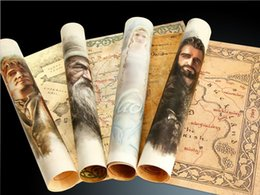 Wholesale Poster Earth - The Hobbit 420*280mm Hobbit Poster Maps Movie derivative surrounding Hobbit version of Middle-earth map in stock freeshipping