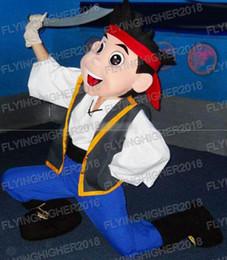 Wholesale Neverland Pirate Mascot - Jake Mascot Costume Adult Character Costume   Jake and the Neverland Pirates ,free shipping