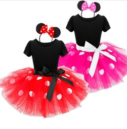 Wholesale Polka Dot Dress Girls Tutu - Baby Dresses Party Dress Polka Dot Boutique Dresses Baby Kids Clothes Girls Dress Short Sleeve Princess Dress KKA2411