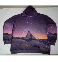 Wholesale Galaxy S View - Real USA Size Galaxy Mountain View 3D Sublimation print fleece custom made Hoody   Hoodie Plus Size
