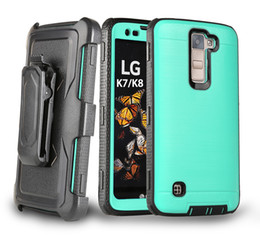 Wholesale Holster Clip Metal - Newest Durable Metal Brushed Combo Holster Kickstand Hybrid Case Belt Clip for ZTE Tempo N9131 Grand X4 Warp 7 N9519 Motorola G4 Plus
