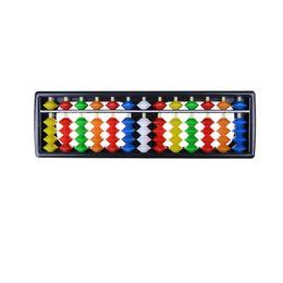 Wholesale Educational Tools Mathematics - Wholesale- 13 Column Portable Arithmetic Colorful Beads Mathematics Calculate Tool Abacus