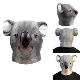 Wholesale Kids Latex Costume - Latex Animal Mask Halloween Masquerade Mask Koala Mask Full Face Halloween Dance Party Costume Wolfhound Masks Theater Toys Creepy Cry Masks