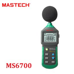 Wholesale Clock Level - Wholesale- MASTECH MS6700 Auto Range Digital Sound Level Meter Tester Decibel Noise Meter 30dB to 130dB With Clock and Calendar Function