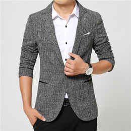 Wholesale mens suit high quality - Suits men high quality Mens casual Suits Blazers leisure Jacket fashion Blazer Coat Button suit Business men Formal suit jacket