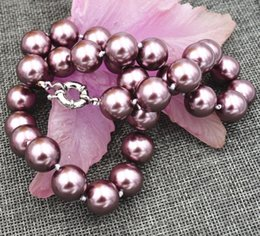 """Wholesale 18 Mm Shell Pearl - Fashion Genuine 14 mm South Sea shell pearl necklace 18 """"AAA"""