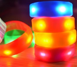 Wholesale Kids Bangle Bracelets Sale - New Arrival Controlled Controll LED Flashing Light Bracelet Bangle Fashion Hot Sale