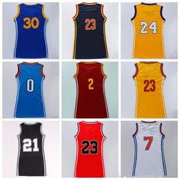 Wholesale Dress 23 - Women Basketball Dress Skirt Jersey Shirt #30 #23 #2 #11 #24 #7 #0 With Player Name Team Logo Woman Basket ball Uniforms Sportswear Quality