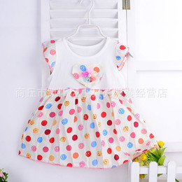 Wholesale Kids Clothing Sale Free Shipping - Wholesale- Baby Dresses Girls Baby Clothes The kids floral Dress for babies hot sale cute Children dress Free Shipping