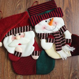 Wholesale Hanged Socks - Special Santa Claus Snow Man Short Christmas Sock For Kid Christmas Gifts Christmas Tree Hanging Ornaments Free Ship
