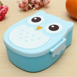 Wholesale Children Picnic Bag - Portable Children Cute Cartoon Lunch Box Storage Bag Owl Food-safe Food Picnic Container Picnic Carry Tote