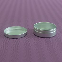 aluminium-flaschenpakete Rabatt Großhandels-10g Kosmetisches Aluminium-Glas-kleine Hautpflege-Creme-Probenverpackungs-Flaschen leeren nachfüllbaren Lippenöl-Behälter
