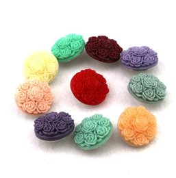 Wholesale plastic button flower - 40pcs lot Mix Colors Fashion Plastic Resin Rose Flower Noosa chunks Metal Ginger 18mm snap buttons for diy bracelet jewelry findings