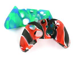 Xbox un controlador cubre online-Para la cubierta de la caja de la piel del camuflaje flexible del silicón suave de Xone para la cubierta del apretón del regulador delgado de Xbox One S