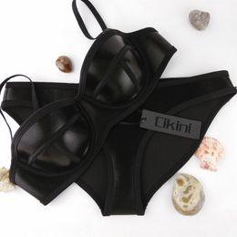 Wholesale Bath Materials - Swimwear Woman Neoprene Material Bikinis Women New Summer 2015 Sexy Swimsuit Bath Suit Bikini set Bathsuit Biquini Cikini