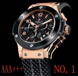 Wholesale golden movement - Men watch Limted Stainless Steel &#72ublot Watch DAY Date Men Automatic Movement New Rose golden Mens Sport Watches Wristwatch