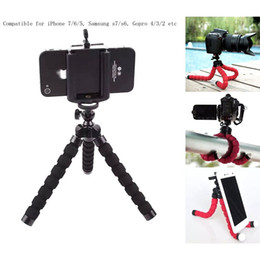 2017 soportes para cámaras digitales Universal Octopus Sponge Flexible MINI Trípode Digital Camera Holder Soporte de montaje para Canon Soporte de montaje para Iphone 7 6S 5 Plus Gorrila Trípodes barato soportes para cámaras digitales