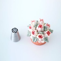 Wholesale Plastic Flowers For Sale - Wholesale- Hot Sale Flower Nozzle Cake Decorating Tips Russian Stainless Steel Icing Nozzle Baking & Pastry Tools Baking Tools For Cakes