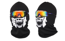 Wholesale Breathing Face Mask - NEW CS Cosplay Ghost Skull Black Full Face Mask Motorcycle Biker Balaclava Breathing Dustproof Windproof mask Skiing sport masks