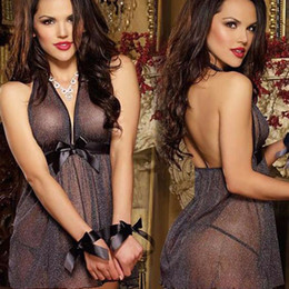 Wholesale Sexy Plus Size Baby Doll - Baby Doll Dress Women Sexy Lingerie Costumes Sexy Underwear Women See-through Porn Babydoll Plus Size Sleepwear