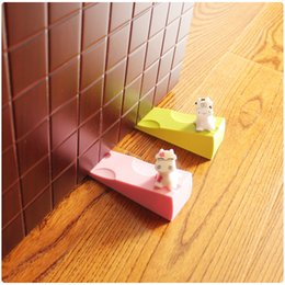 Wholesale Cute Door Stoppers - Wholesale- Baby Safety Supplies Creative Cartoon Cute Silica Gel Cows Door Stopper Protect Baby Safety