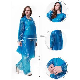 Wholesale Trousers For Hiking - Plastics Disposable Rain Cover Set(Coat+Trousers)Outdoor Tourist Thickened Disposable Raincoat Set For Travel Tour Camping Hiking Rain Cover