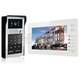 Wholesale X Vision Camera - Video Door Phone Video Intercom 1024 x 600 7 inch HD TFT Color LCD Monitor Doorbell 300000 Pixels Night Vision Camera RFID