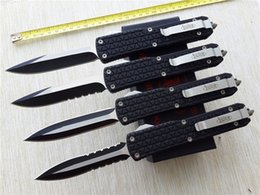 Wholesale Self Grip - Microtech Combat Troodon D07 double action out the front automatic knives Katana Tri-Grip Pocket knife EDC Tactical knife with sheath