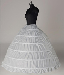 Wholesale Cheap Black Petticoats - 6 Hoop Ball Gown Petticoats In Stock Cheap White Black Underskirt for Wedding Dress Bridal Accessories