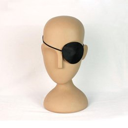 Wholesale Child Pirate Costumes - Child Kids Pirate Eye Patch Cover Eye Mask Eyeshade Plain for Lazy Eye Party Costume Favor Gift Fancy Dress Free Shipping ZA2595