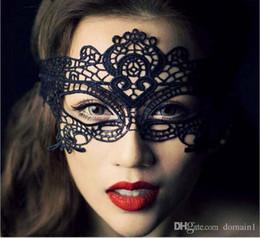 2019 patchs de danse Bourgeon de soie masque danse, discothèque fête bar sexy femme, voile de dentelle creuse un demi-masque et patch noir masque de parti promotion patchs de danse