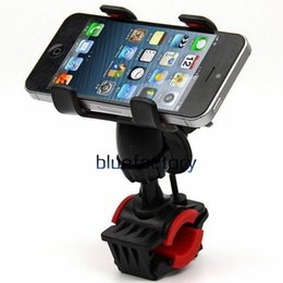 Wholesale Handlebar Brackets - Universal Bike Bicycle Mount Phone Holder adjustable 360 Degree Rotatable Bracket Holder Dual Clip Handlebar for iphone 7 Samsung Cell phone