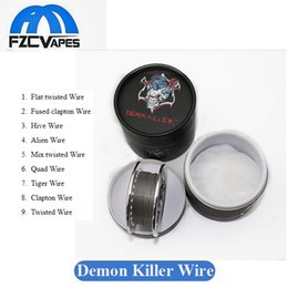 Wholesale N Boxes - Original Demon Killer Wick N' Wire Roll Box 15feet 15ft Twisted Fused Clapton Hive Alien Quad Tiger Wire Coil RDA RDTA RTA GTA